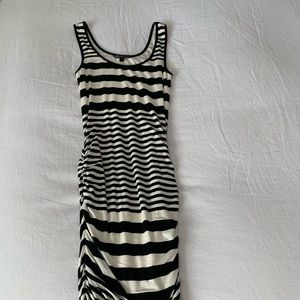 Felicity & Coco Blk/Wht Stripped Dress